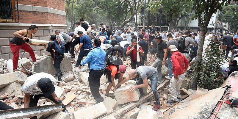 Terremoto Messico- 217 vittime accertate ma si scava ancora